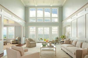 cape cod custom home design living room